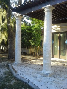 Natural Coral Stone 10 ft. High Columns