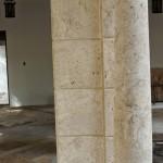 Marbella Columns, Square and round. Coral Stone Column