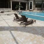 Golden Coral Stone Pool Deck. Fossil stone. Marbella Stone